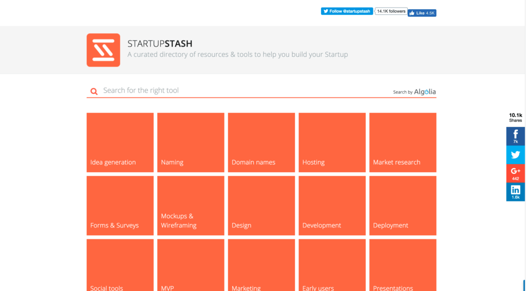 A curated directory of resources & tools to help you build your Startup.